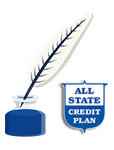 All-State Credit Plan LLC - Logo & Feather-Inkpot